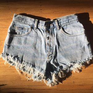 Vintage Lee High Waist Denim Mom Shorts